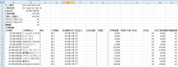 CSVデータ → エクセル